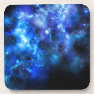 Blue Galaxy Print Coaster