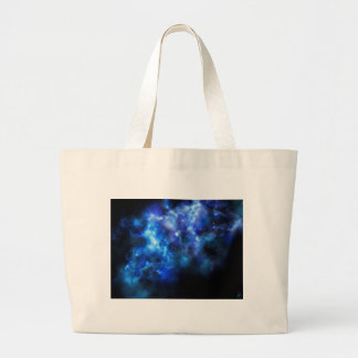 Blue Galaxy Print Large Tote Bag