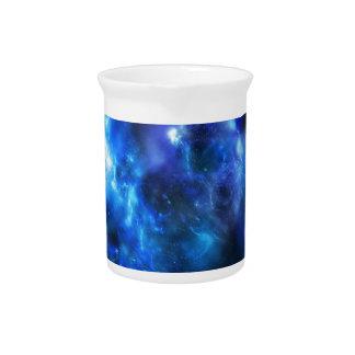 Blue Galaxy Print Pitcher
