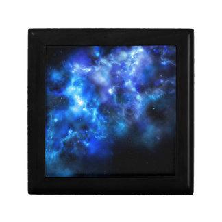 Blue Galaxy Print Small Square Gift Box