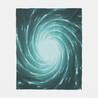 Blue Galaxy Swirl Custom Fleece Blanket