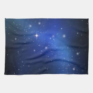Blue galaxy tea towel