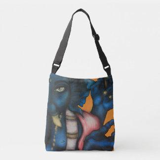 Blue Ganesha Crossbody Bag