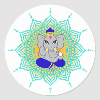 Blue Ganesha labels