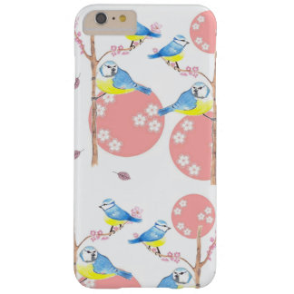 Blue Garden Birds and Blossom Barely There iPhone 6 Plus Case