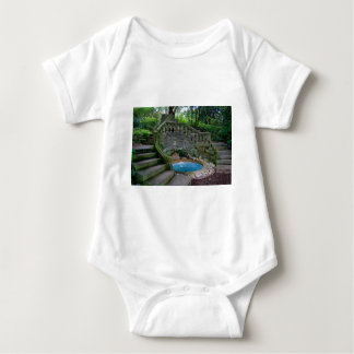 Blue Garden Fountain Baby Bodysuit
