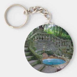 Blue Garden Fountain Key Ring