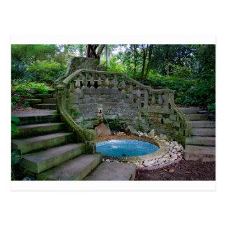 Blue Garden Fountain Postcard