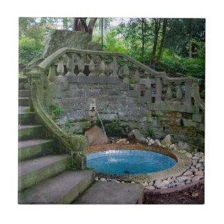 Blue Garden Fountain Tile
