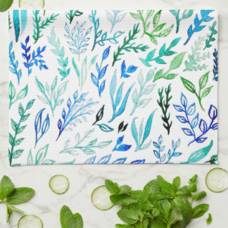 Blue Garden Tea Towel