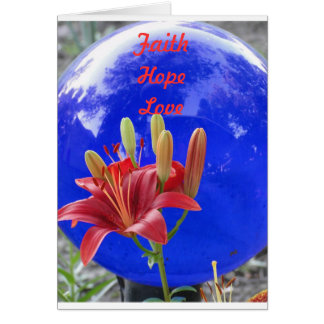 Blue Gazing Ball, May Love Abound Card