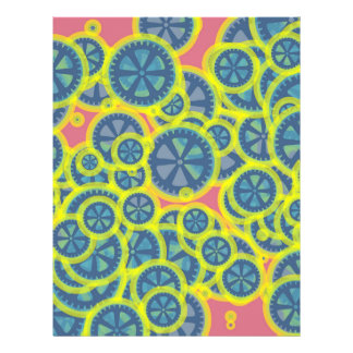 Blue gearwheels 21.5 cm x 28 cm flyer