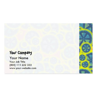 Blue gearwheels pack of standard business cards