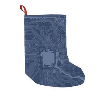 Blue Geek Motherboard Circuit Pattern