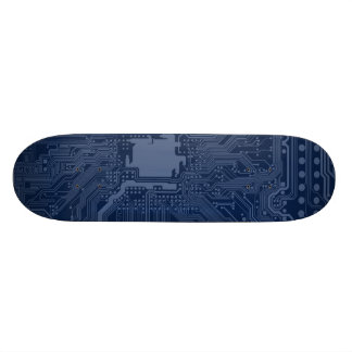 Blue Geek Motherboard Circuit Pattern 20 Cm Skateboard Deck