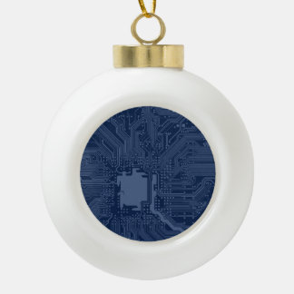 Blue Geek Motherboard Circuit Pattern Ceramic Ball Decoration