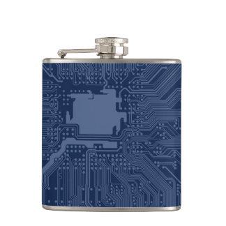 Blue Geek Motherboard Circuit Pattern Flasks
