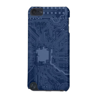 Blue Geek Motherboard Circuit Pattern iPod Touch (5th Generation) Cases