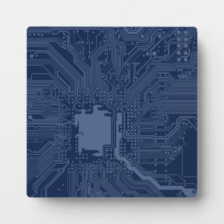 Blue Geek Motherboard Circuit Pattern Plaques