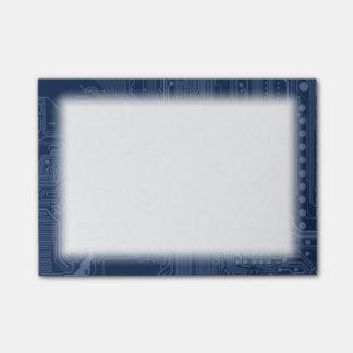 Blue Geek Motherboard Circuit Pattern Post-it Notes