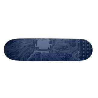 Blue Geek Motherboard Circuit Pattern Skate Board Decks