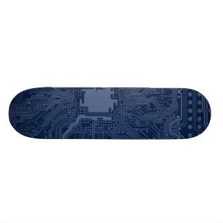 Blue Geek Motherboard Circuit Pattern Skate Deck