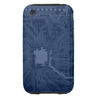 Blue Geek Motherboard Circuit Pattern Tough iPhone 3 Cover