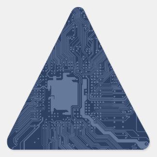 Blue Geek Motherboard Circuit Pattern Triangle Sticker