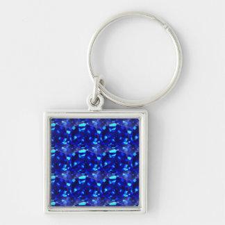 blue gem stone keychain