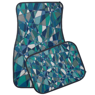 Blue Gem Style Decorative Set of 4 Car Mats