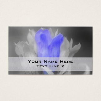 Blue Gentian Flower In Black And White Business Card