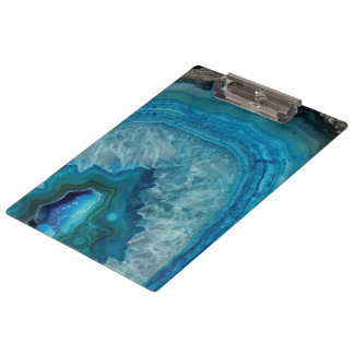 Blue Geode Rock Mineral Agate Crystal Image Clipboard