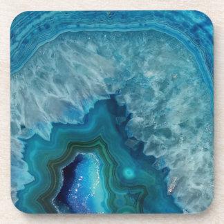 Blue Geode Rock Mineral Agate Crystal Image Coaster