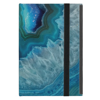 Blue Geode Rock Mineral Agate Crystal Image iPad Mini Cover