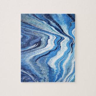 Blue Geode Sparkle Jigsaw Puzzle