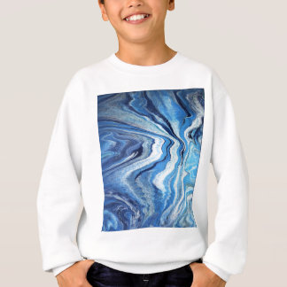 Blue Geode Sparkle Sweatshirt