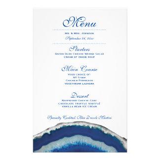 Blue Geode Wedding Dinner Menu