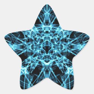 blue geometric abstract star sticker