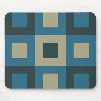 Blue Geometric Cool Trendy Shape Mousepad