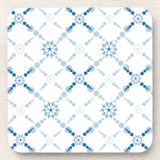 Blue Geometric Crop Circles Coaster