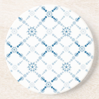 Blue Geometric Crop Circles Drink Coaster