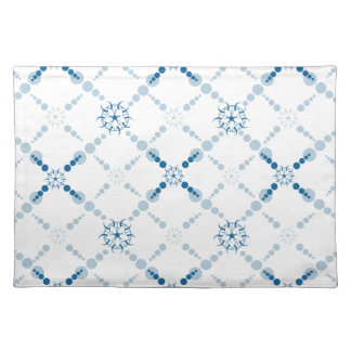 Blue Geometric Crop Circles Place Mat