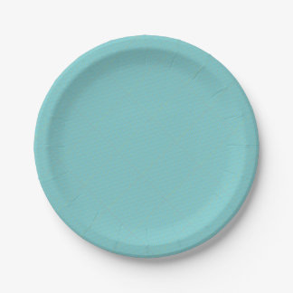 Blue Geometric Minimalist Party Supply Paper Plate