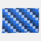 Blue Geometric Mosaic Pattern Tea Towel