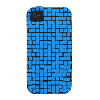 Blue geometric pattern Case-Mate iPhone 4 covers