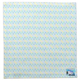 Blue geometric pattern cloth napkin Part 1