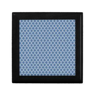 Blue Geometric Pattern Gift Box