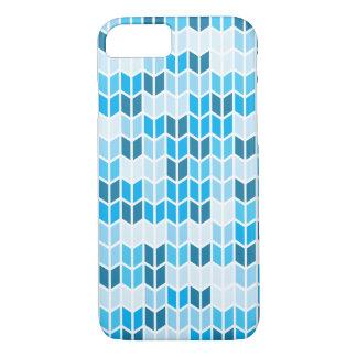 Blue Geometric Pattern iPhone 7 Case