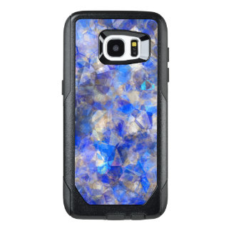 Blue Geometric Pattern Simulated Glass OtterBox Samsung Galaxy S7 Edge Case