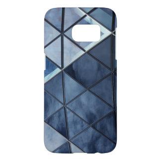 Blue Geometric Samsung Galaxy S7 Phone Case